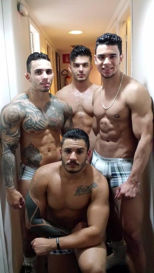 Muscled hung latino sucks