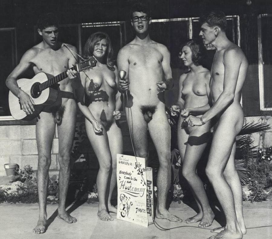 Family nudists black