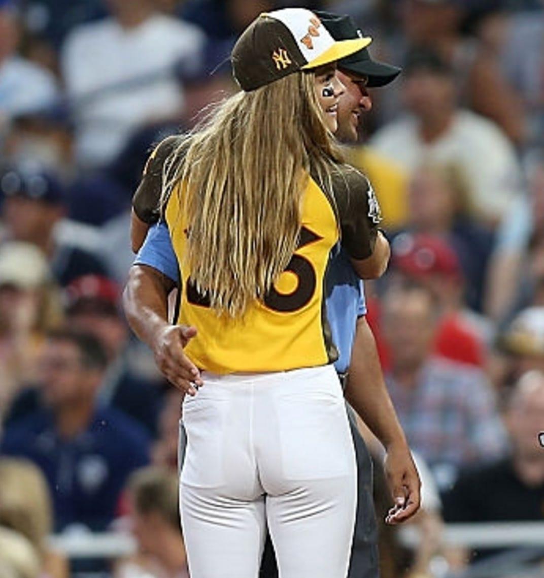 Softball ass girls