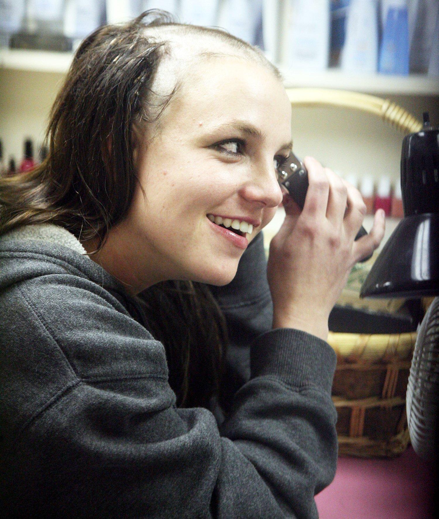 Whiskers reccomend Britney head picture shaved spear tattoo