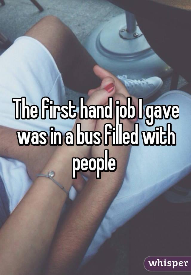 my first handjob experience