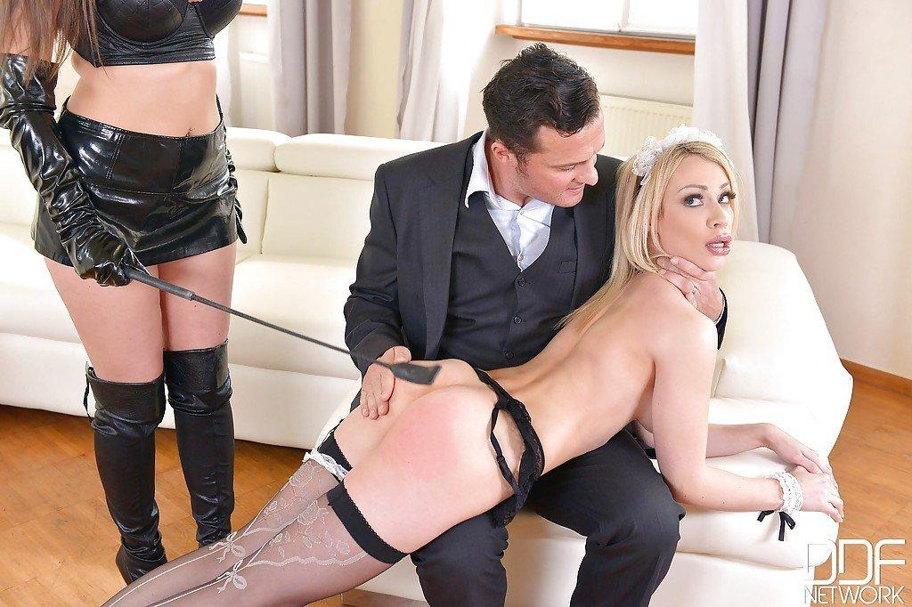 Spanking asses in pantyhose