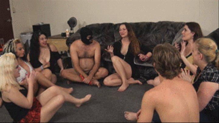 ballbusting gang bang party videos