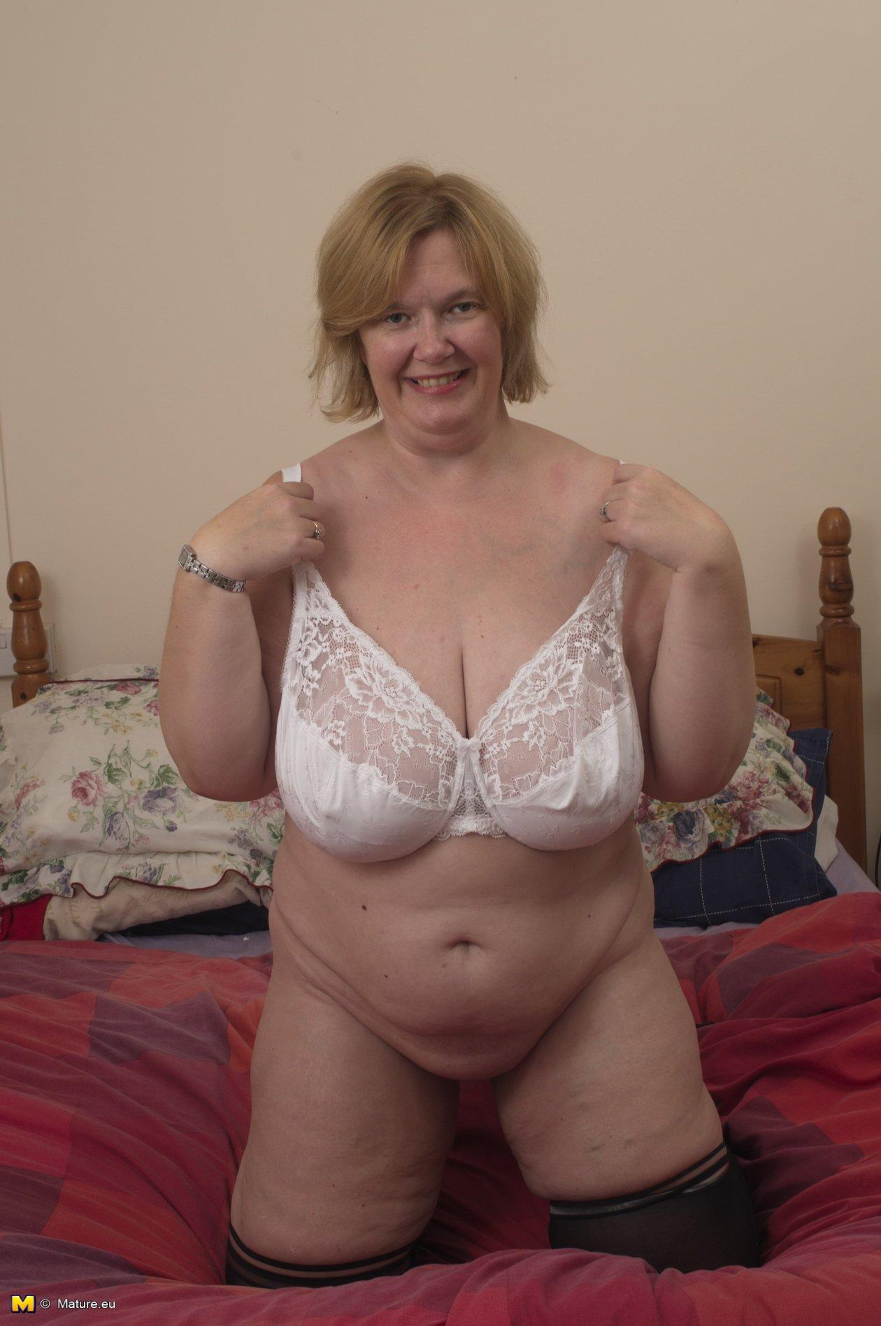 Big tit chubby mature wife