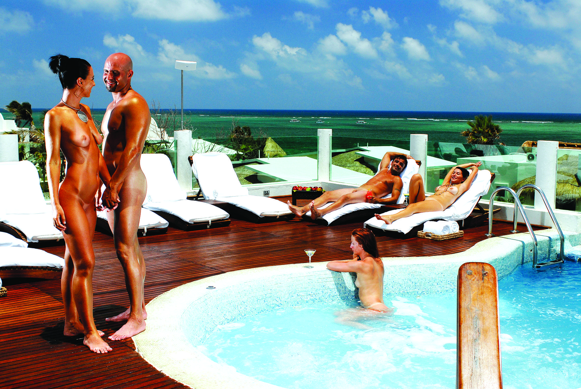 Captain R. reccomend Any beach cancun in nude