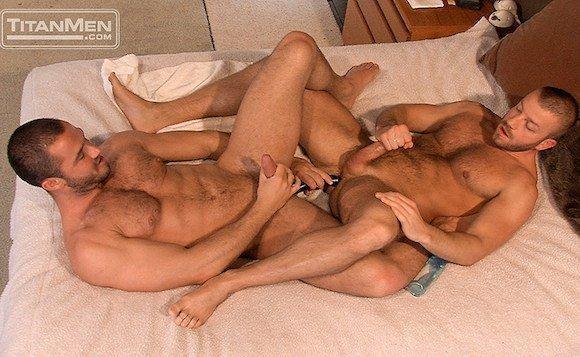 Gay double penetration dildo