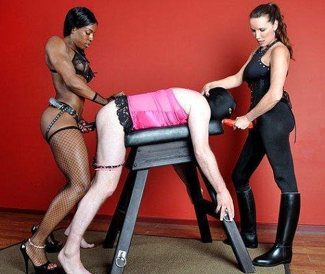 Ginger reccomend Black femdom prison strapon
