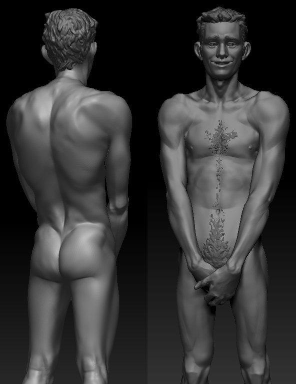 3d nude male models