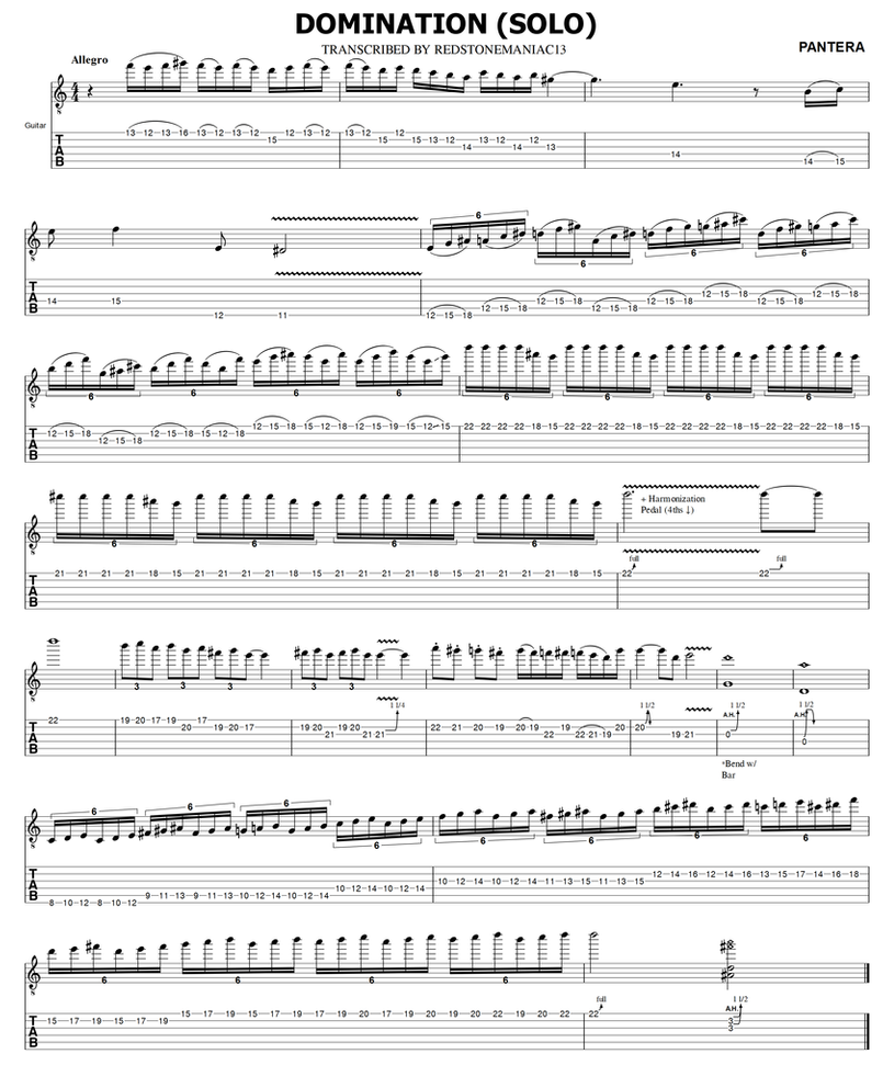 Domination guitar tabs