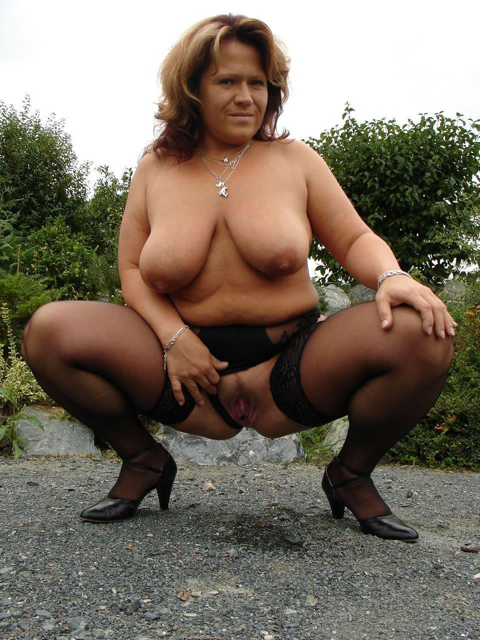 Nude chubby amature granny