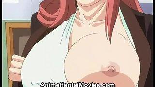 Hentai babe gets licked and rides hard cock. Big Tits porno tube