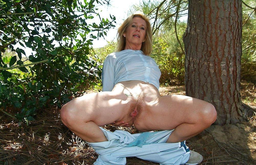 Mature nude women woods