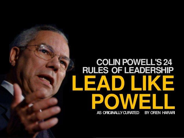 Colin powell rules piss