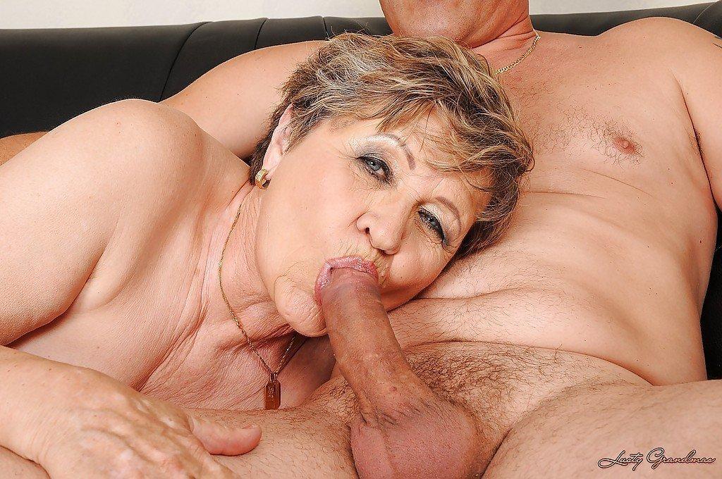 Hot mature granny blowjob