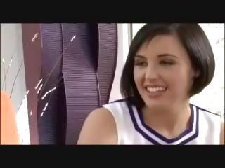 Beautiful cheerleader facial sex video