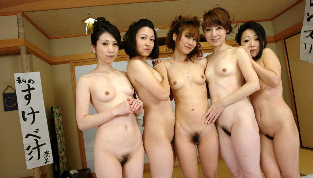 Nude japanese girls group ass