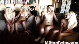 blonde starp-on Milton threesome
