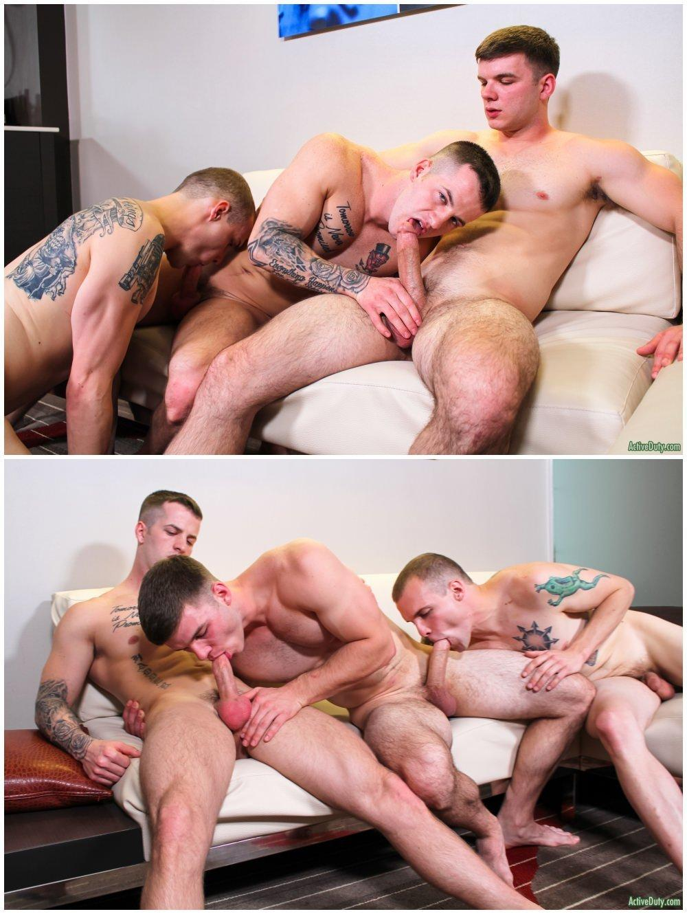 Free gay porn threesome