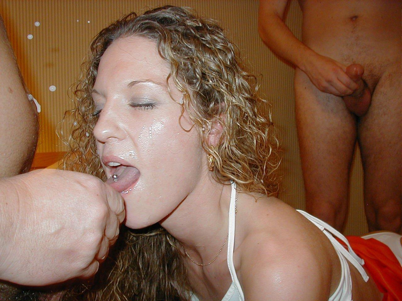 ugly woman bukkake