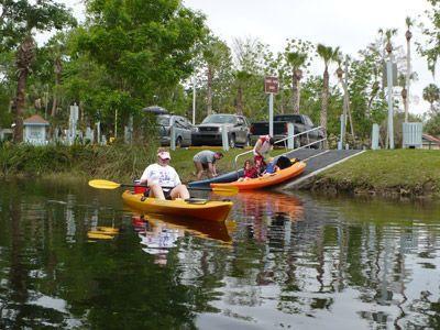 Canoeing around redhead fl