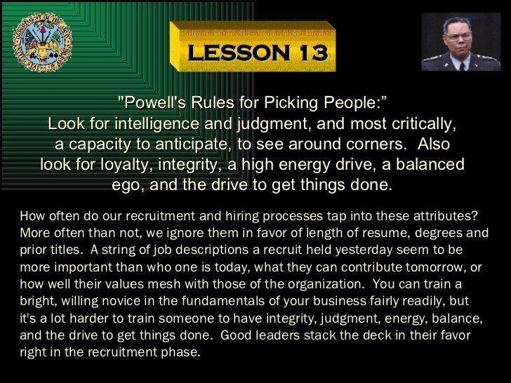 best of Piss rules Colin powell