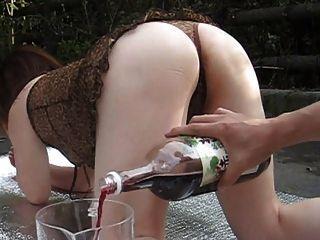 Bondage wine enemas