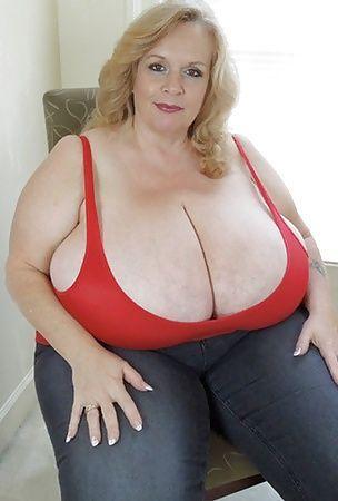Op mature huge tits strap