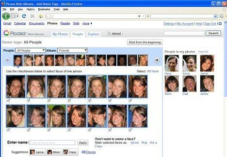 Olympus reccomend Facial recognition image search