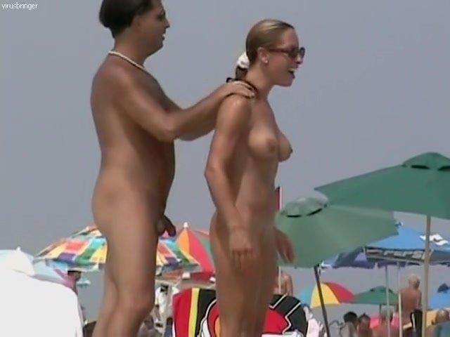 Beach naked video woman