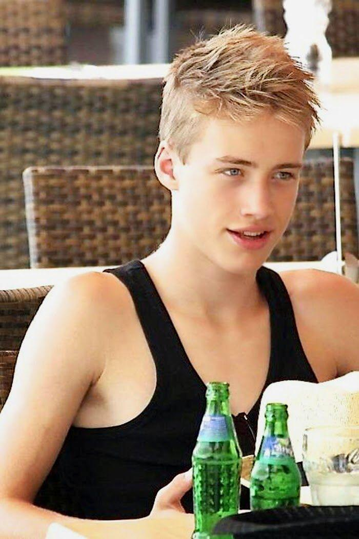 Almost blonde twink boy for