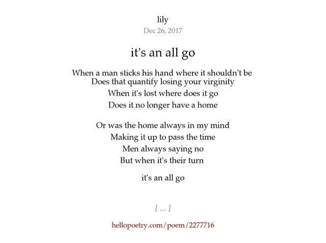 best of About virginity Poem losing