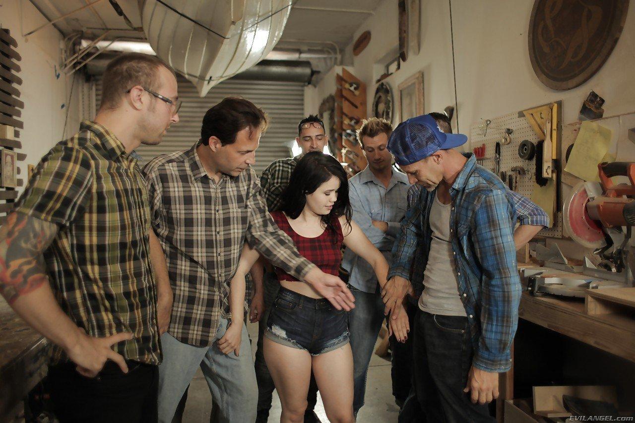 Butch reccomend Garage gangbang porn