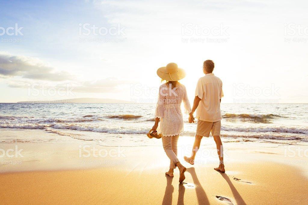 Mature life is a beach