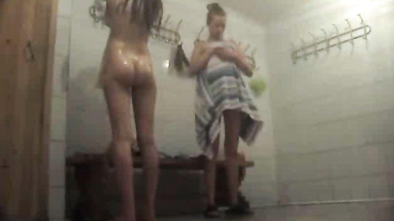 Locker room voyeur nude girls