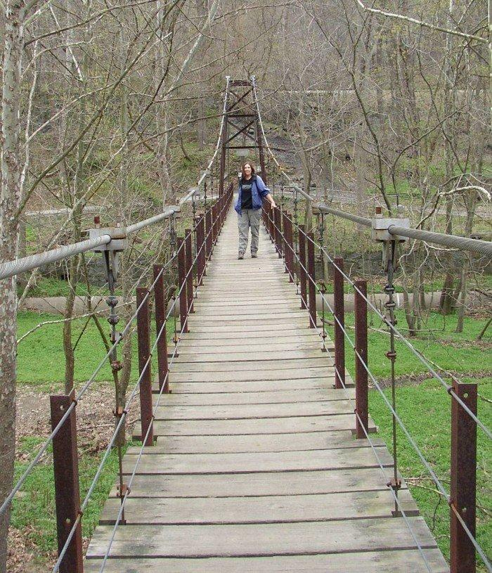 Patapsco valley state park swinging bridges
