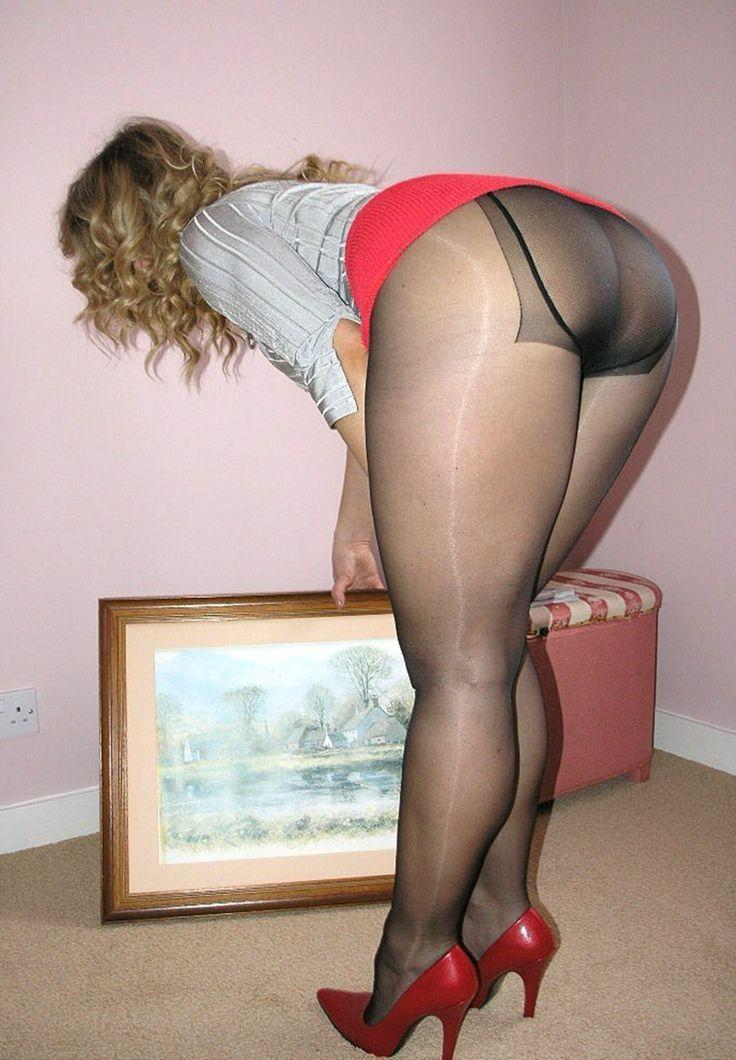 Putting on pantyhose tube