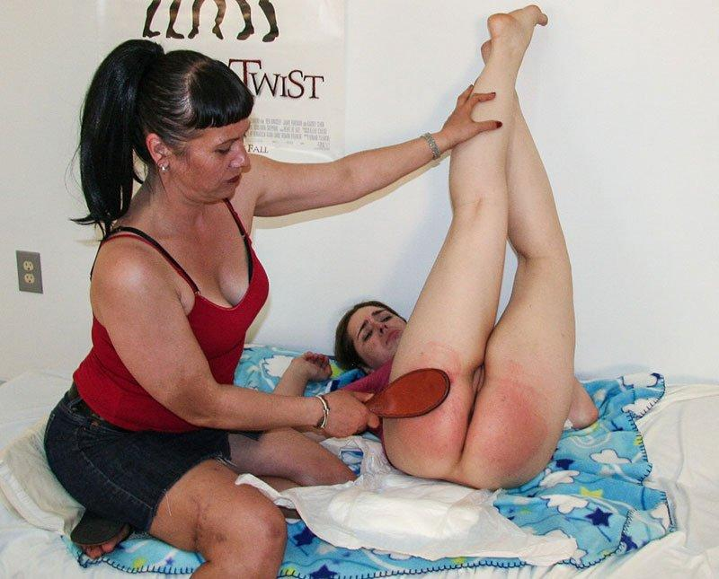best of Spanking position Adult diaper