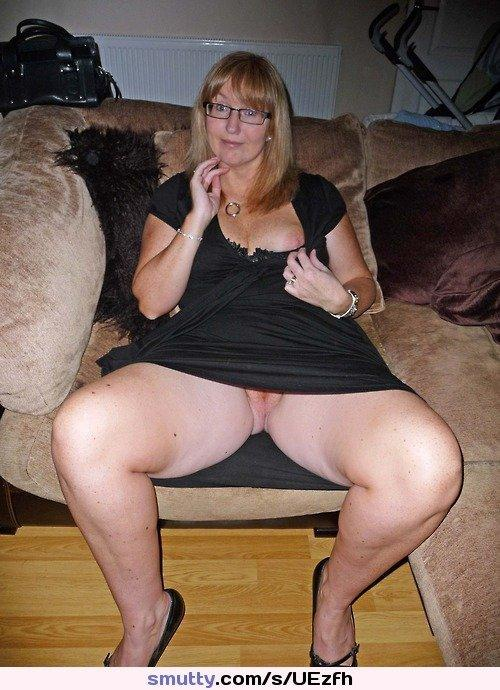 Mature milf up skirt