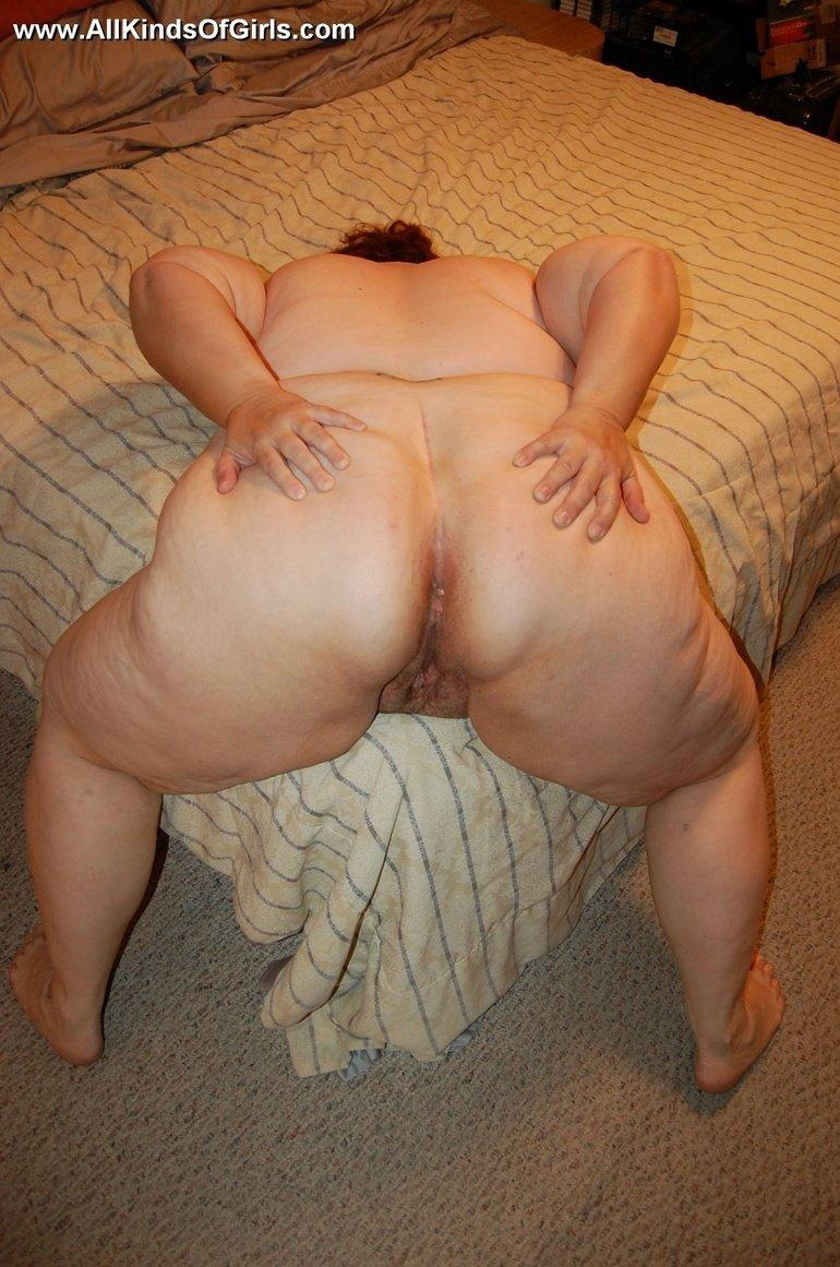 My bbw wife spreading her big ass
