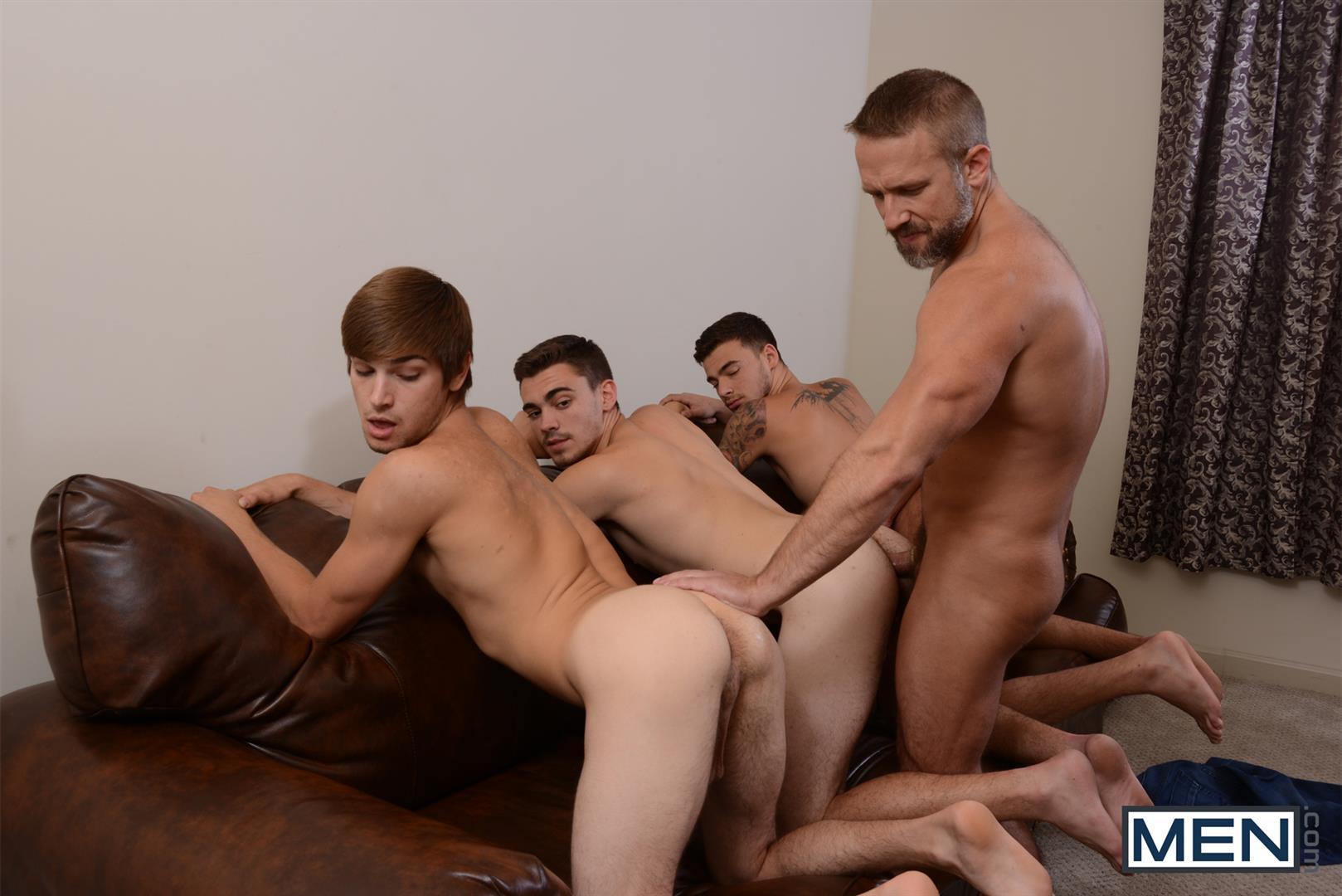 Amatuer gay orgy