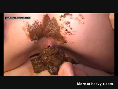 Brazilian butt cum eating