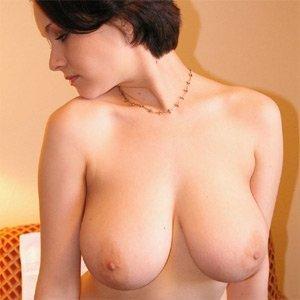 Busty naked tease