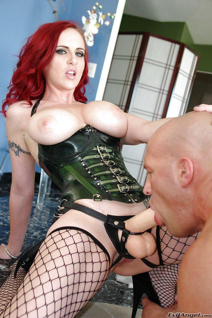 Busty gorgeous femdom strapon domination mistress gal pic images 198