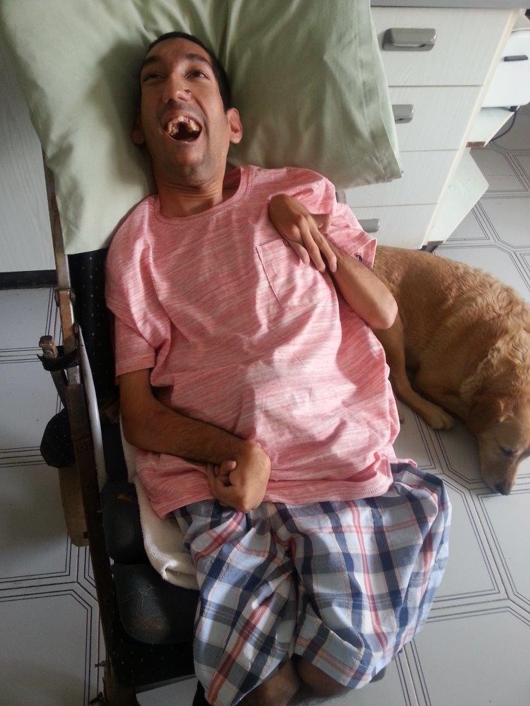 Caregiver masturbation assisting patient of