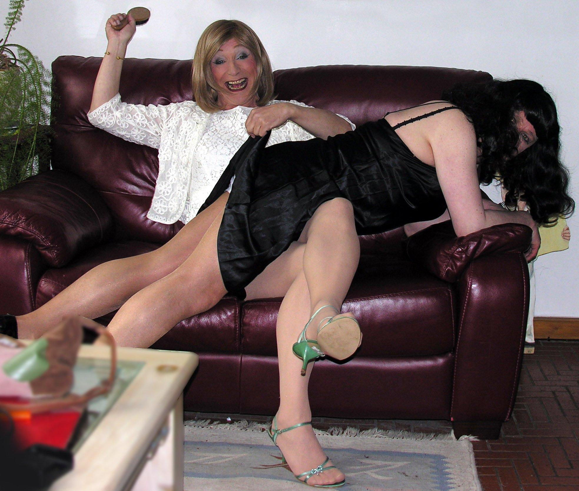 best of Mature pantyhose Spanking