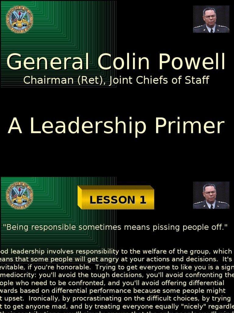 Vinegar reccomend Colin powell rules piss