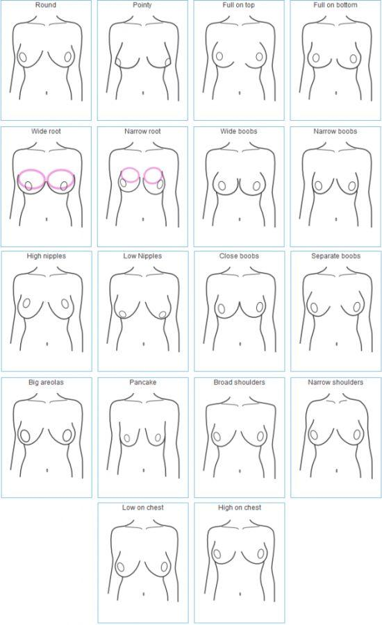 Fullback reccomend Different shaped boob pics