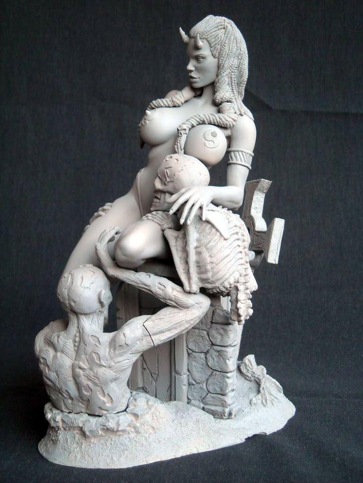 Erotic resin models