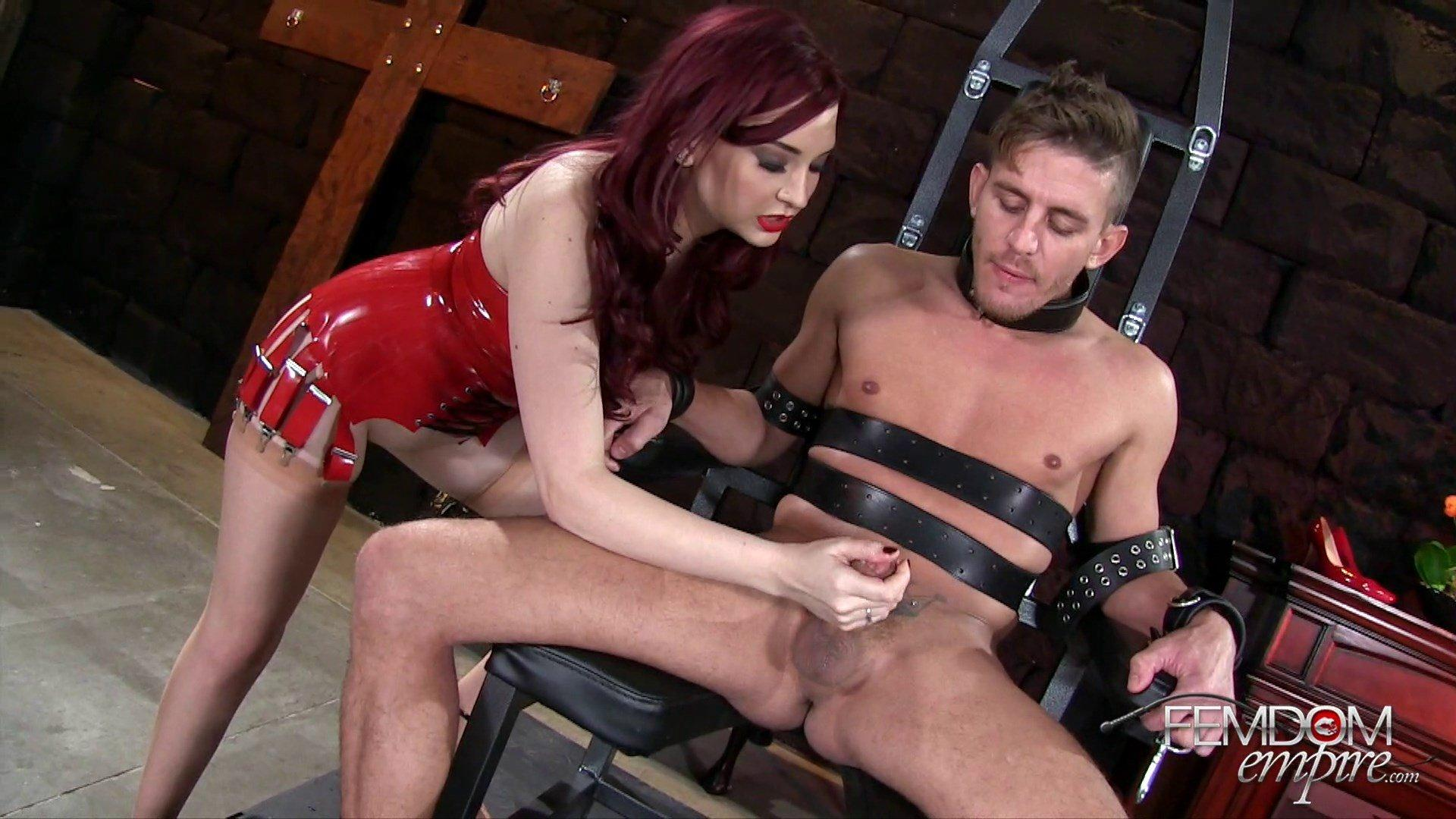 LOUISE: Forced femdom milking erotic