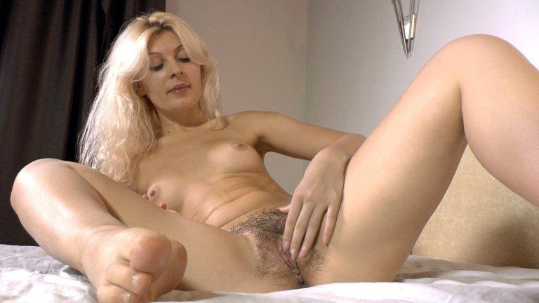 Woman masturbation man naked with